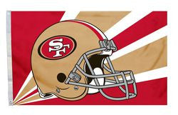San Francisco 49ers 3'x5' Helmet Design Flag