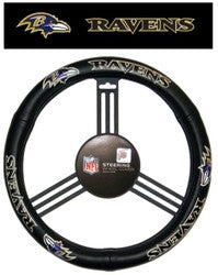 Baltimore Ravens Leather Steering Wheel Cover - Fanz of Sportz