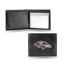 Baltimore Ravens Embroidered Leather Billfold - Fanz of Sportz