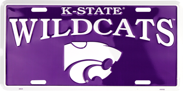 Kansas State Wildcats Color License Plate