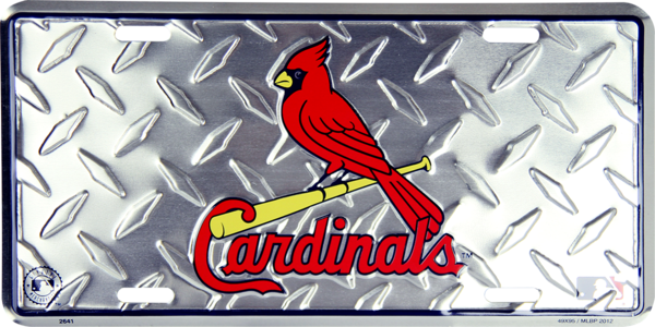 St. Louis Cardinals Diamond License Plate
