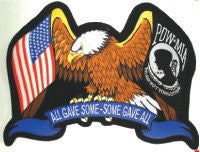 """All Gave Some, Some Gave All"" Eagle POW-MIA  Patch"