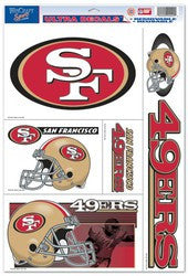 "San Francisco 49ers 11""x17"" Ultra Decal Sheet"