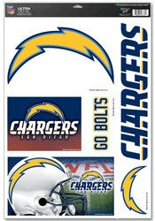 "San Diego Chargers 11""x17"" Ultra Decal Sheet"