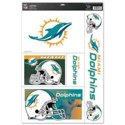 "Miami Dolphins 11""x17"" Ultra Decal Sheet"