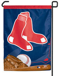 "Boston Red Sox 11""x15"" Garden Flag - Socks Logo"