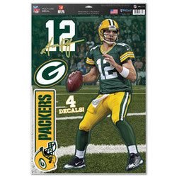 "Green Bay Packers Aaron Rodgers 11""x17"" Multi-Use Decal Sheet"