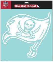 "Tampa Bay Buccaneers Die-Cut Decal - 8""x8"" White"