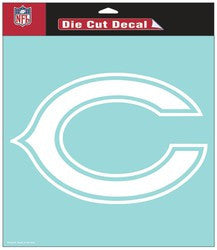 "Chicago Bears Die-Cut Decal - 8""x8"" White - Fanz of Sportz"