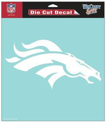 "Denver Broncos Die-Cut Decal - 8""x8"" White - Fanz of Sportz"