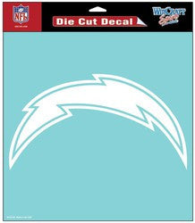 "San Diego Chargers Die-Cut Decal - 8""x8"" White"