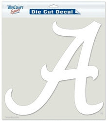"Alabama Crimson Tide Die-Cut Decal - 8""x8"" White"