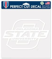 "Oklahoma State Cowboys 8""x8"" White Die-Cut Decal"