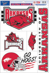 "Arkansas Razorbacks 11""x17"" Ultra Decal Sheet"