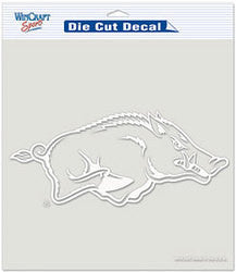 "Arkansas Razorbacks Die-Cut Decal - 8""x8"" White"