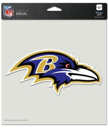"Baltimore Ravens Die-Cut Decal - 8""x8"" Color - Fanz of Sportz"