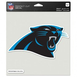 "Carolina Panthers Die-Cut Decal - 8""x8"" Color - Fanz of Sportz"