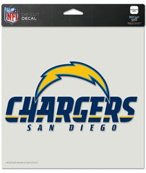 "San Diego Chargers Die-Cut Decal - 8""x8"" Color"