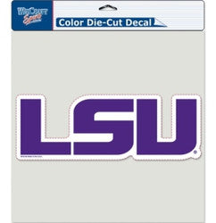 "LSU Tigers Die-Cut Decal - 8""x8"" Color Logo"