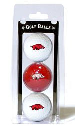 Arkansas Razorbacks 3 Pack of Golf Balls