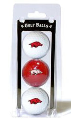 Arkansas Razorbacks 3 Pack of Golf Balls - Fanz of Sportz