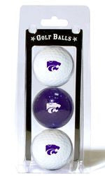 Kansas State Wildcats 3 Pack of Golf Balls
