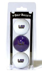 LSU Tigers 3 Pack of Golf Balls