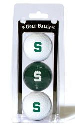 Michigan State Spartans 3 Pack of Golf Balls