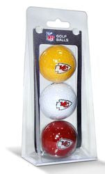 Kansas City Chiefs 3 Pack of Golf Balls
