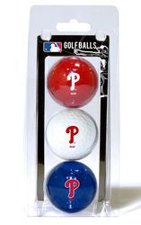 Philadelphia Phillies 3 Pack of Golf Balls