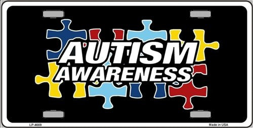 Autism Awareness Ribbon License Plate