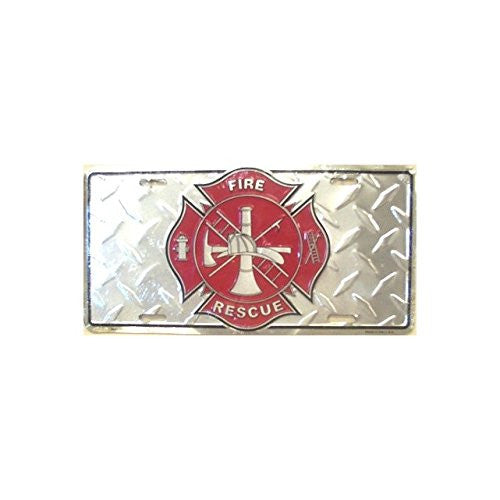 Fire Rescue License Plate
