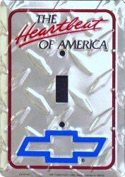 Chevy Heartbeat of America Diamond Emboss Light Switch Cover