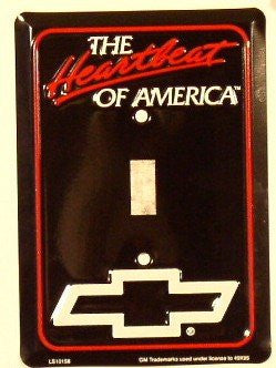 Chevy Heartbeat Single Light Switch Cover