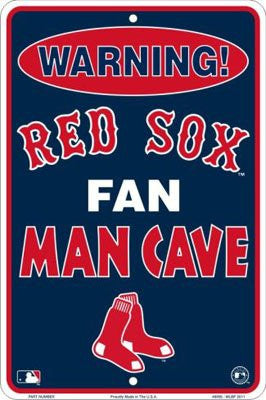 Boston Red Sox Fan Man Cave Metal Sign 8 x 12