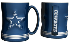 Dallas Cowboys 14oz Blue Sculpted Relief Coffee Mug - Fanz of Sportz