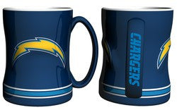 San Diego Chargers Coffee Mug - 14oz Sculpted Relief