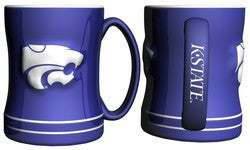 Kansas State Wildcats Coffee Mug - 14oz Sculpted Relief