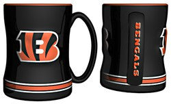 Cincinnati Bengals Coffee Mug - 14oz Sculpted Relief - Fanz of Sportz