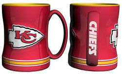 Kansas City Chiefs Coffee Mug - 14oz Sculpted Relief