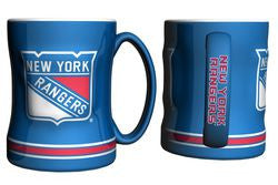 New York Rangers Coffee Mug - 14oz Sculpted Relief