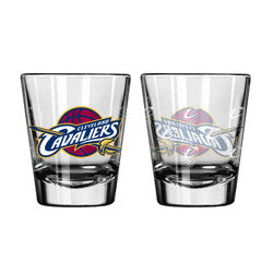 Cleveland Cavaliers Shot Glass - 2 Pack Satin Etch