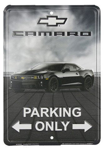 Camaro Parking Only 8 X 12 Metal Parking Sign