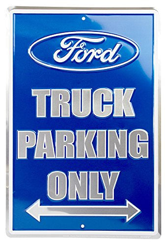 "Ford Truck Parking Only Metal Parking Sign 12"" x 18"""