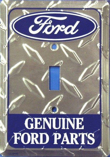 Ford Genuine Parts Diamond Embossed Single Light Switch Cover