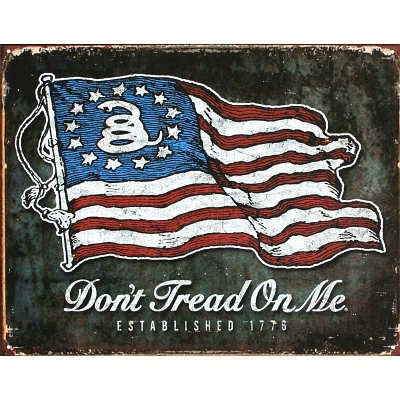 Don't Tread On Me American Flag Tin Sign