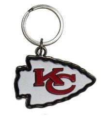 Kansas City Chiefs Chrome Logo Cut Keychain