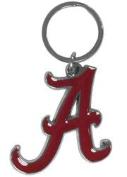 Alabama Crimson Tide Chrome Logo Cut Keychain