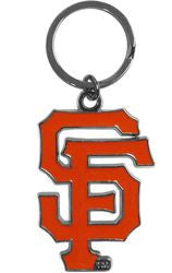 San Francisco Giants Chrome Logo Cut Keychain