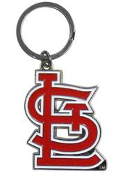 St. Louis Cardinals Chrome Logo Cut Keychain